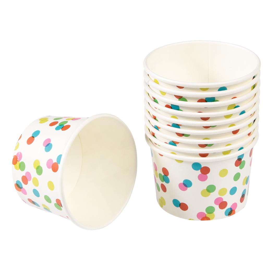 10 Confetti Design Ice Cream Pots Rex London Dotcomgiftshop