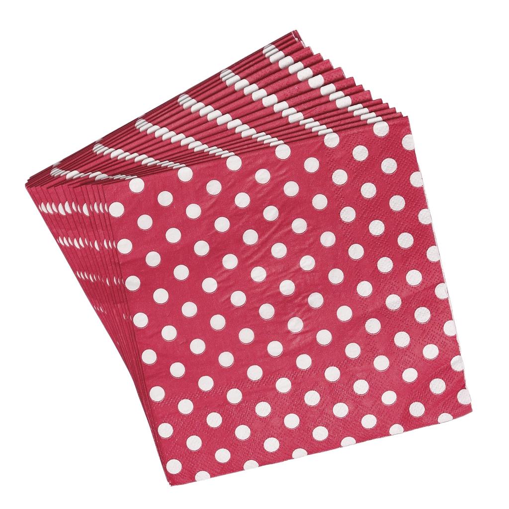 pack of 20 red spotty paper napkins rex london at dotcomgiftshop. Black Bedroom Furniture Sets. Home Design Ideas