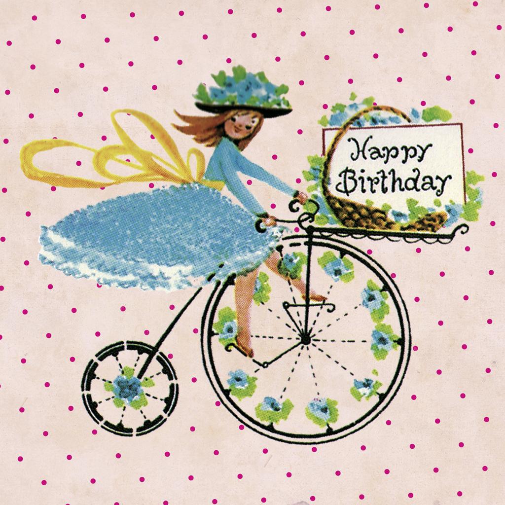 Bike Girls Toys For Birthdays : Penny farthing birthday card rex london at dotcomgiftshop