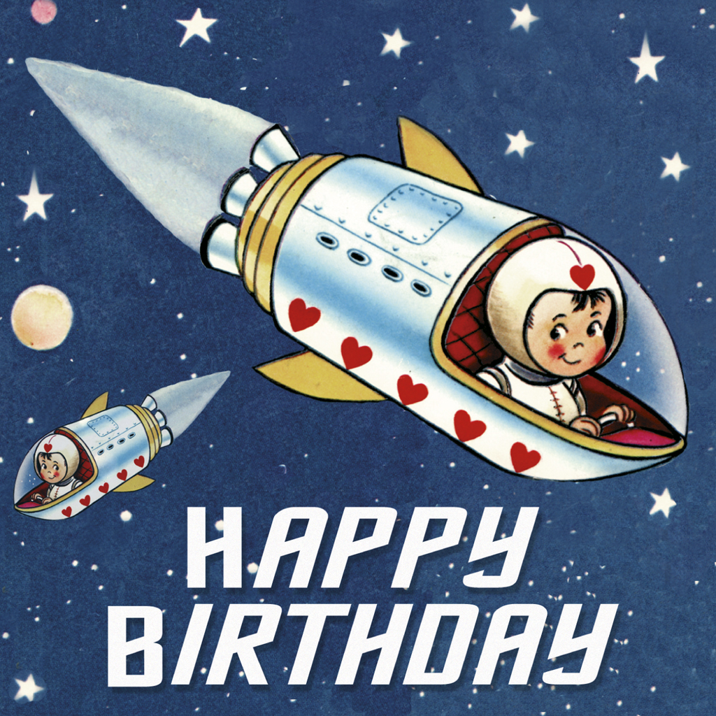 spaceboy birthday card  dotcomgiftshop, Birthday card
