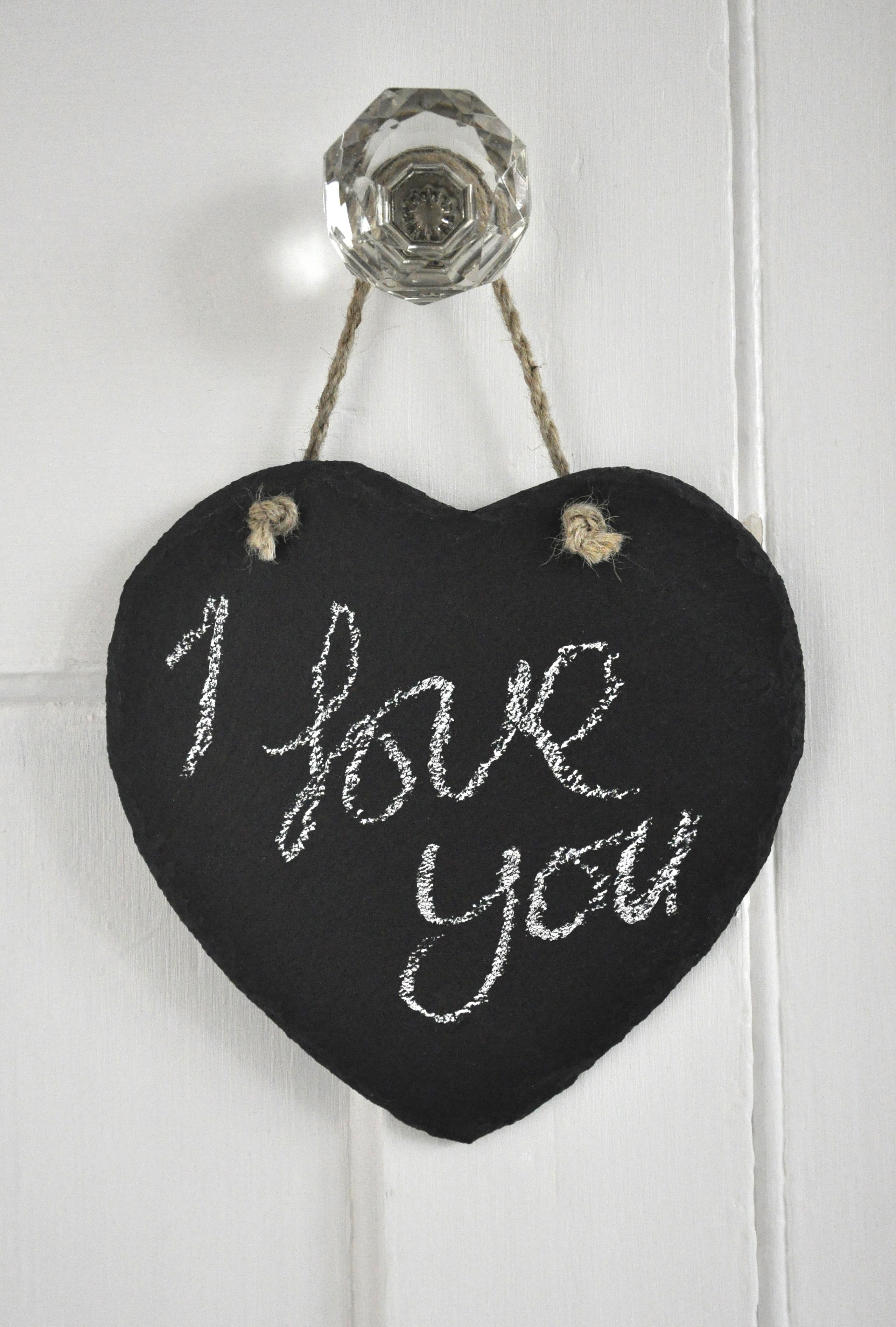 Natural Slate Heart Chalkboard Dotcomgiftshop