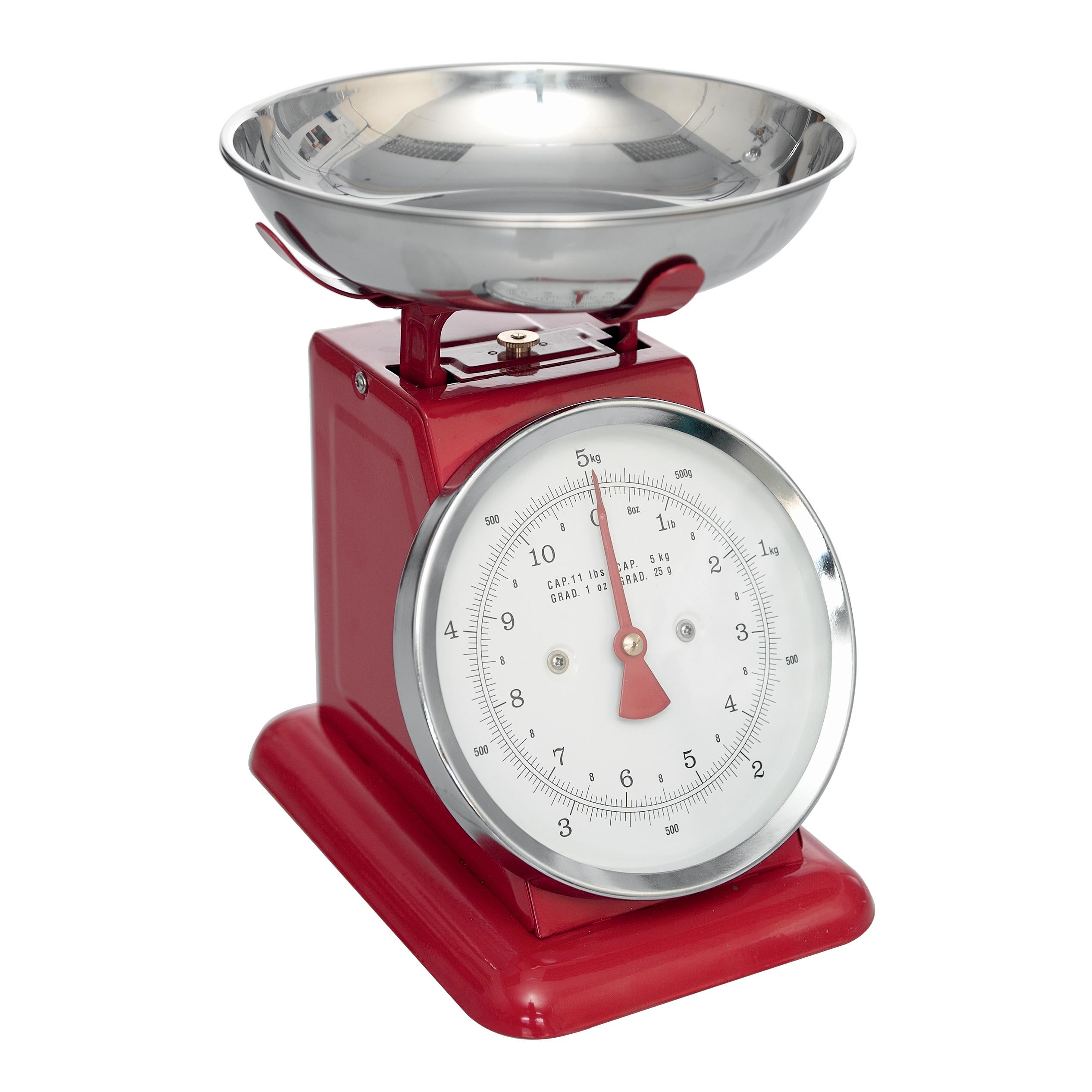 Red Kitchen Scales dotcomgiftshop