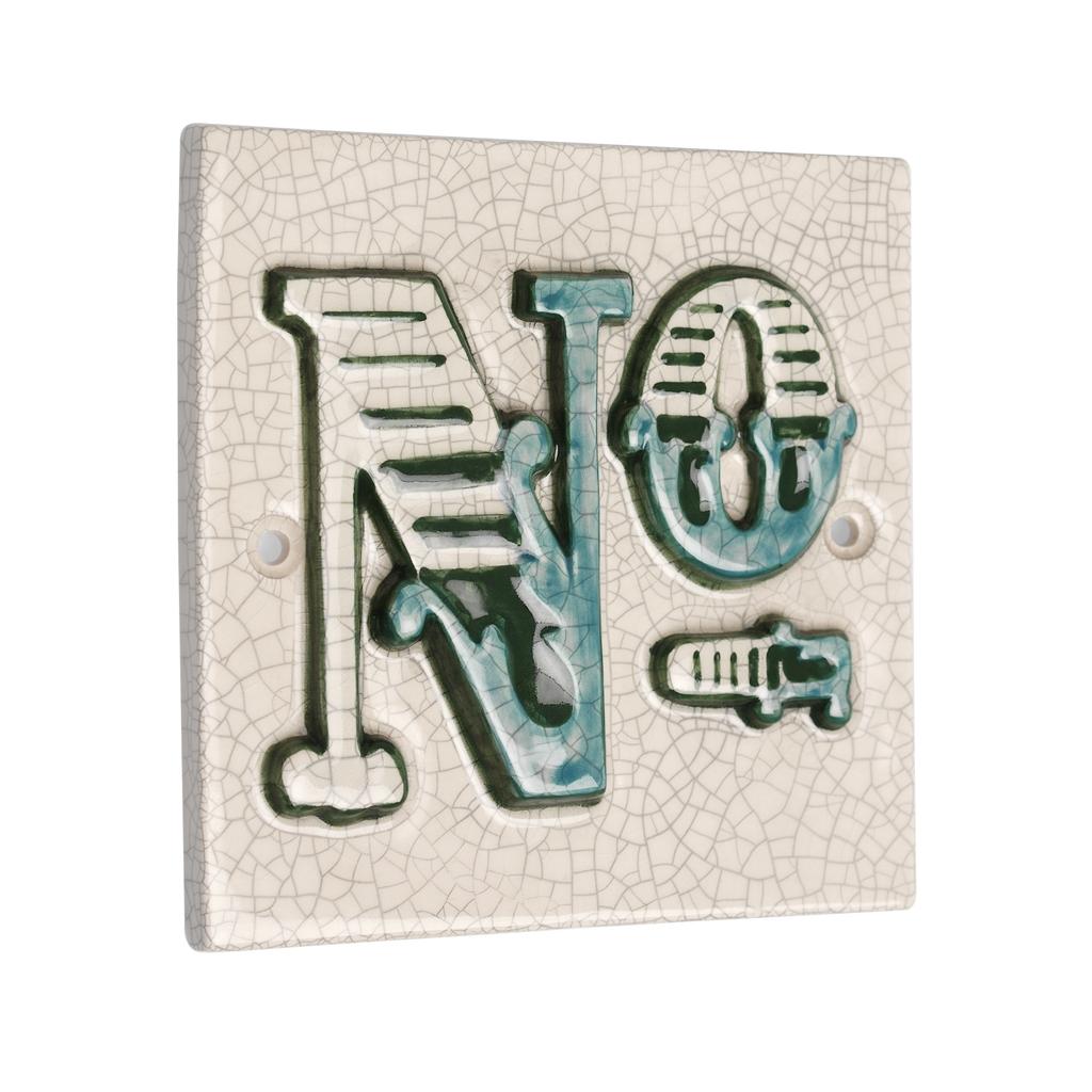 House Number Tile Vintage Font No