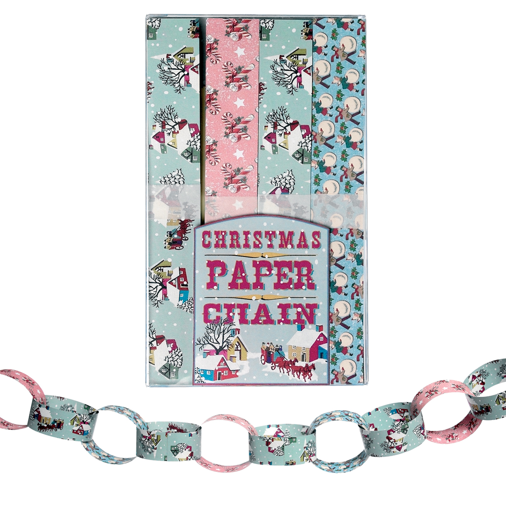 PAPER CHAIN KIT MAKE YOUR OWN VINTAGE CHRISTMAS DECORATION
