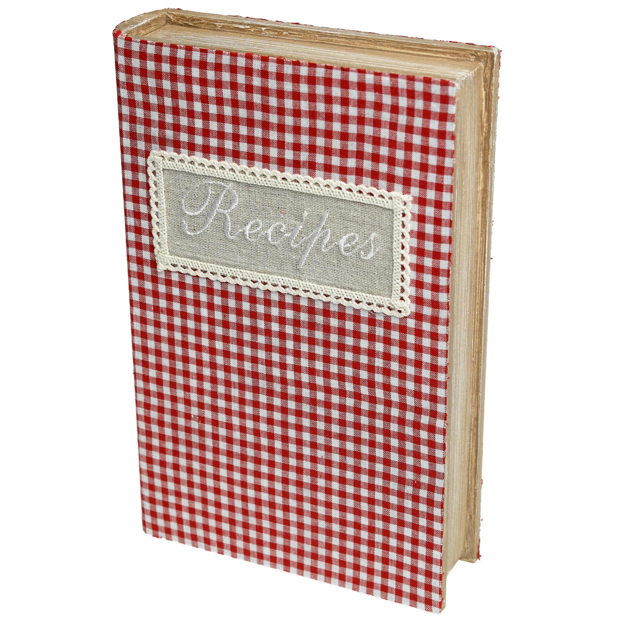 Recipe Book Storage Box  sc 1 st  Dotcomgiftshop & Gingham Recipe Book Storage Box | Rex London (dotcomgiftshop)