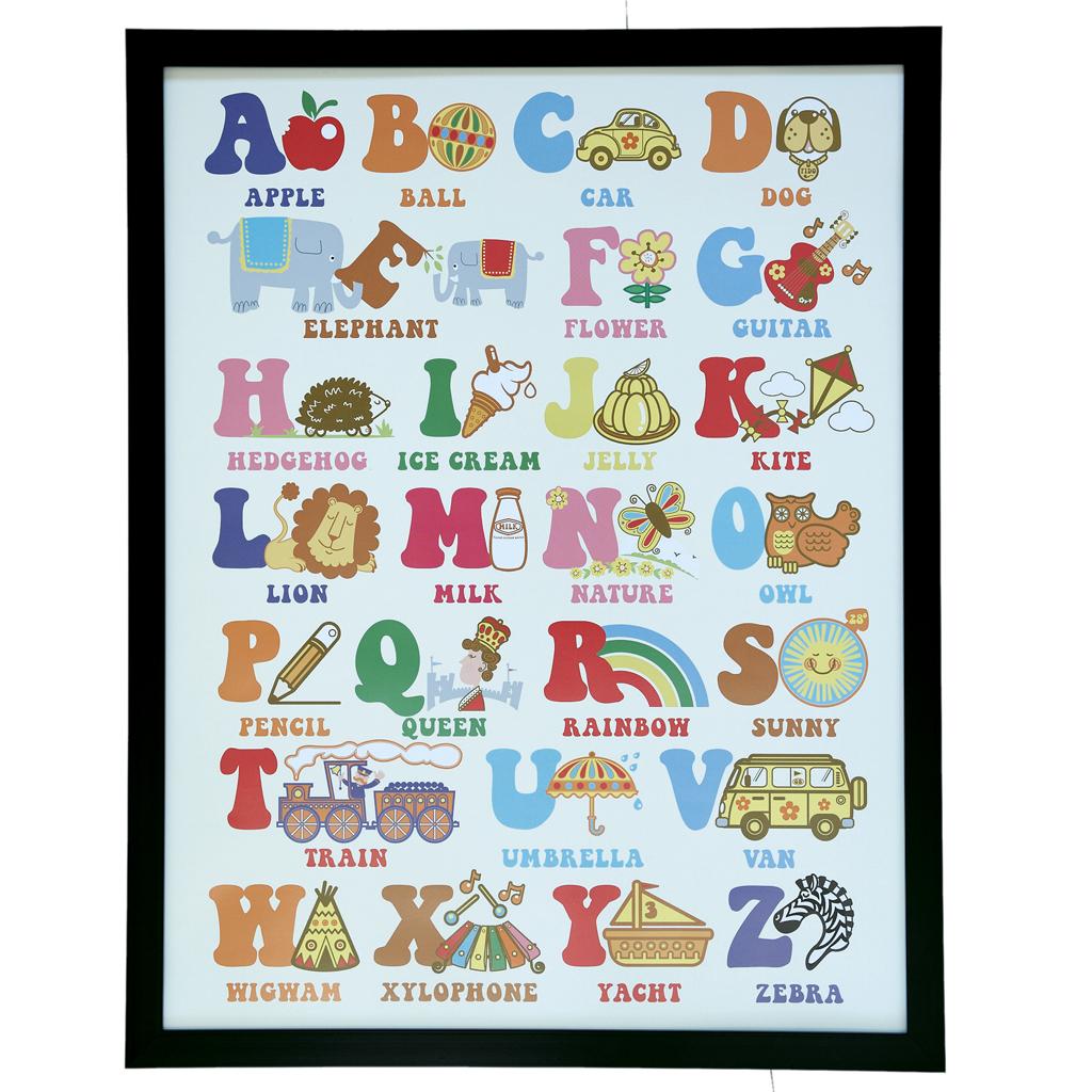 70s alphabet framed wall art rex london dotcomgiftshop 70s alphabet framed wall art jeuxipadfo Choice Image