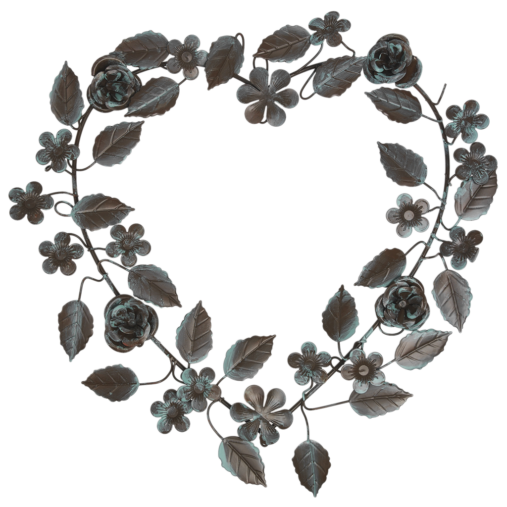 Verdigris Leaves Heart Wreath Rex London At Dotcomgiftshop