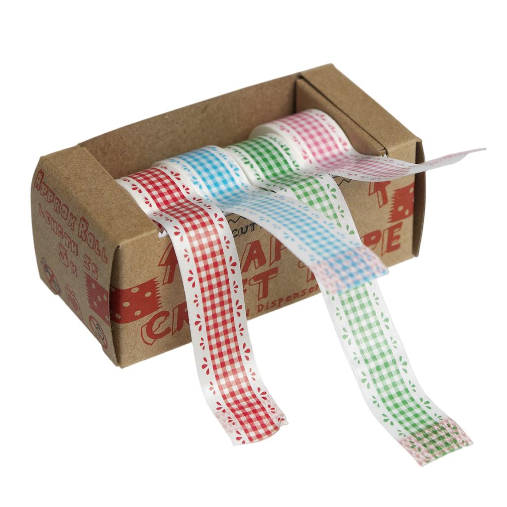 Dotcomgiftshop set de 6 rubans style country anniversaire papier cadeau /& craft