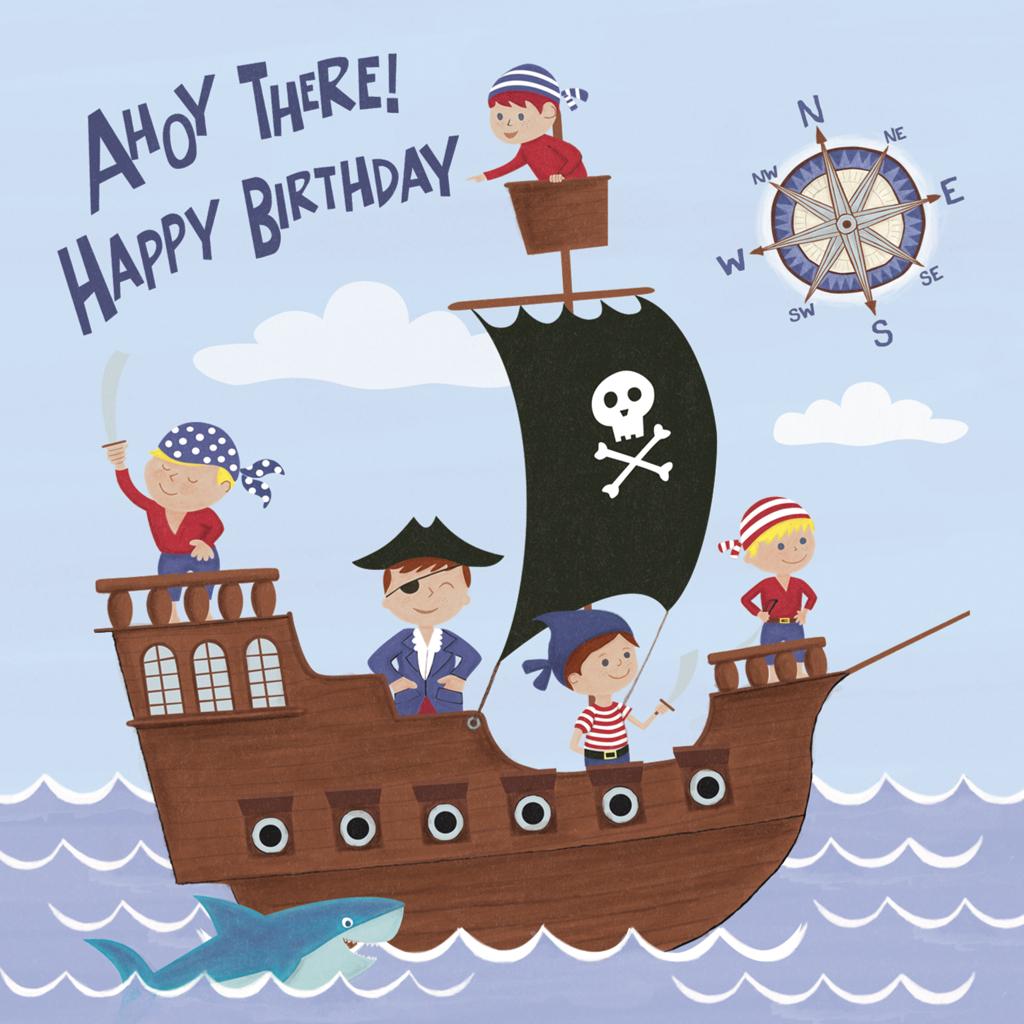 Pirate Birthday Card gangcraftnet – Pirate Birthday Card