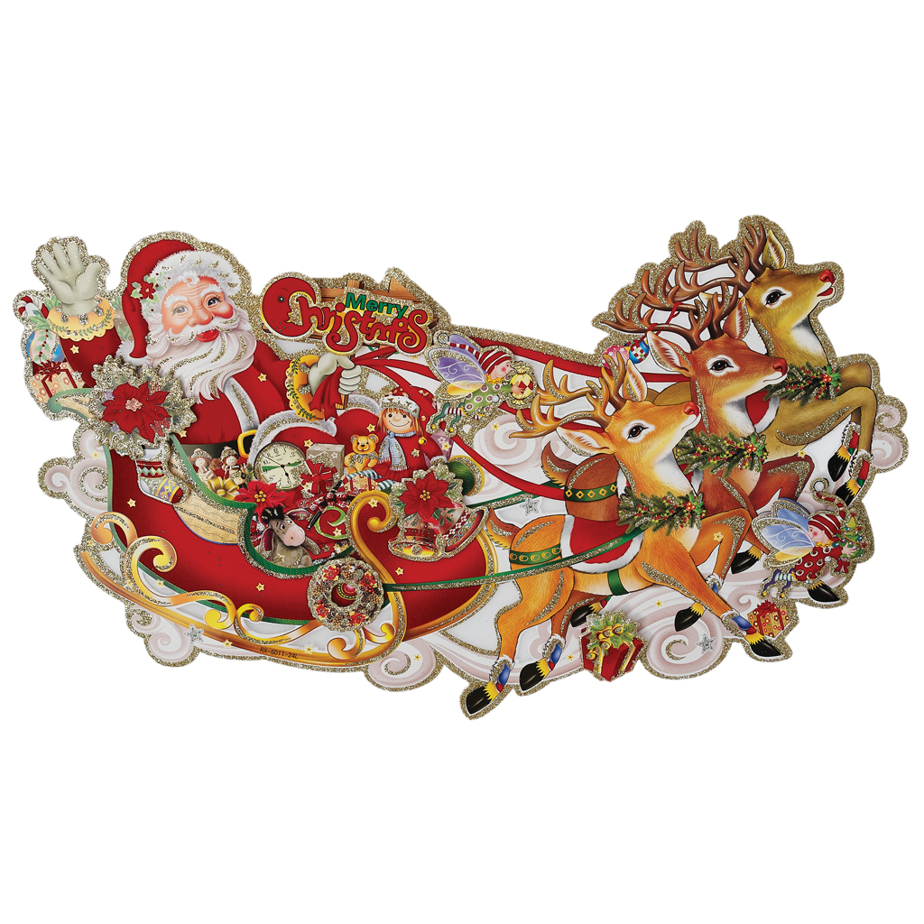 Santas sleigh christmas decoration dotcomgiftshop