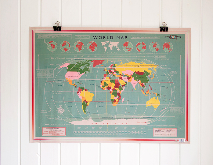 Dotcomgiftshop 5 sheets of wrapping paper vintage world map design 5 sheets of wrapping paper vintage world map design gift wrap gumiabroncs Image collections