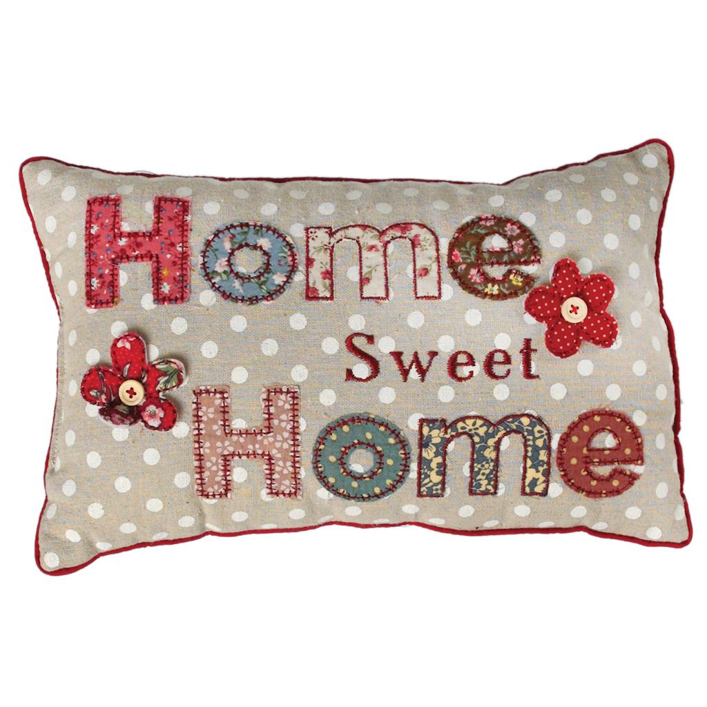 Mini Patchwork Home Sweet Home Cushion Rex London At