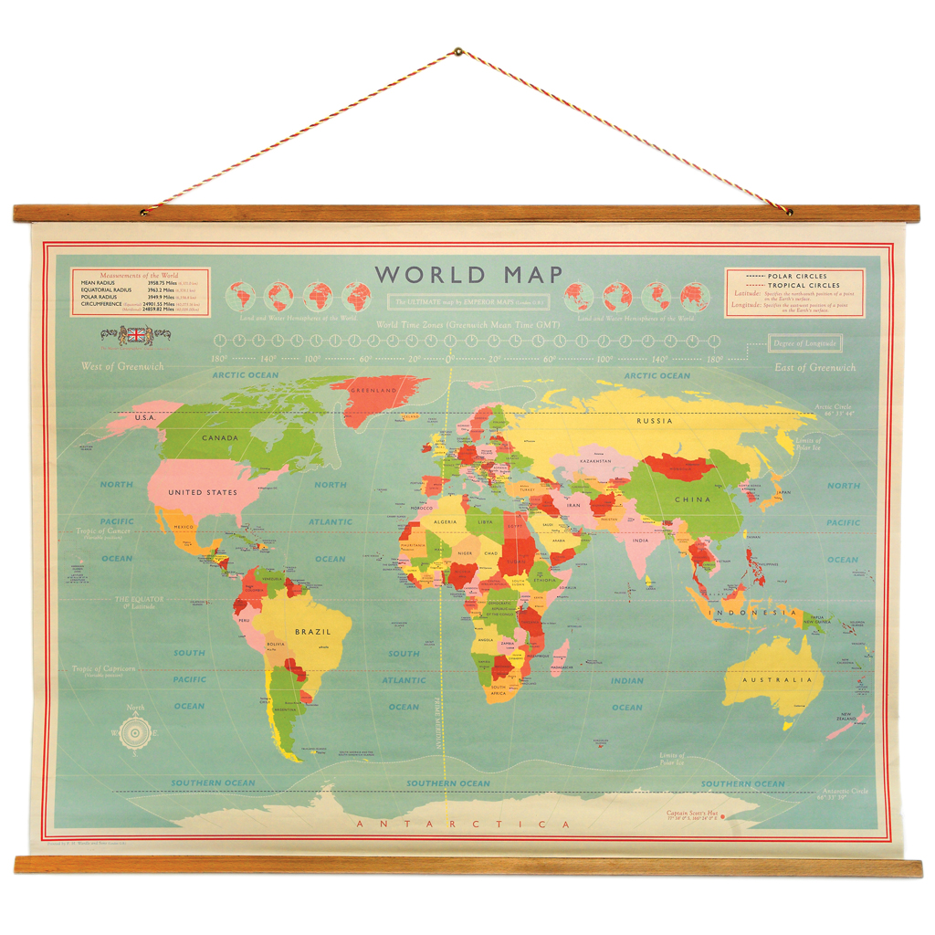 World map wall chart rex london at dotcomgiftshop world map wall chart gumiabroncs Image collections