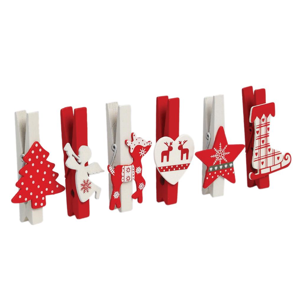 Scandi Christmas Peg Decorations Dotcomgiftshop