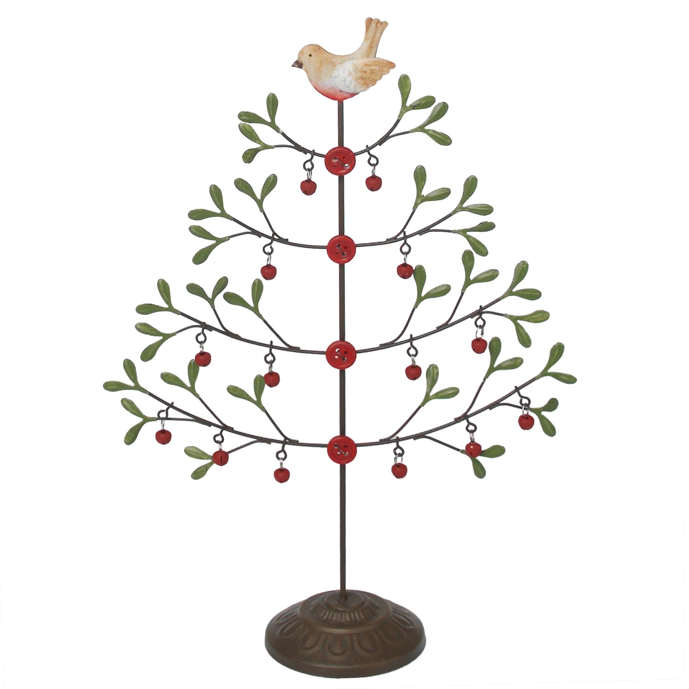 Mistletoe Christmas Tree With Robin; Mistletoe Christmas Tree With Robin