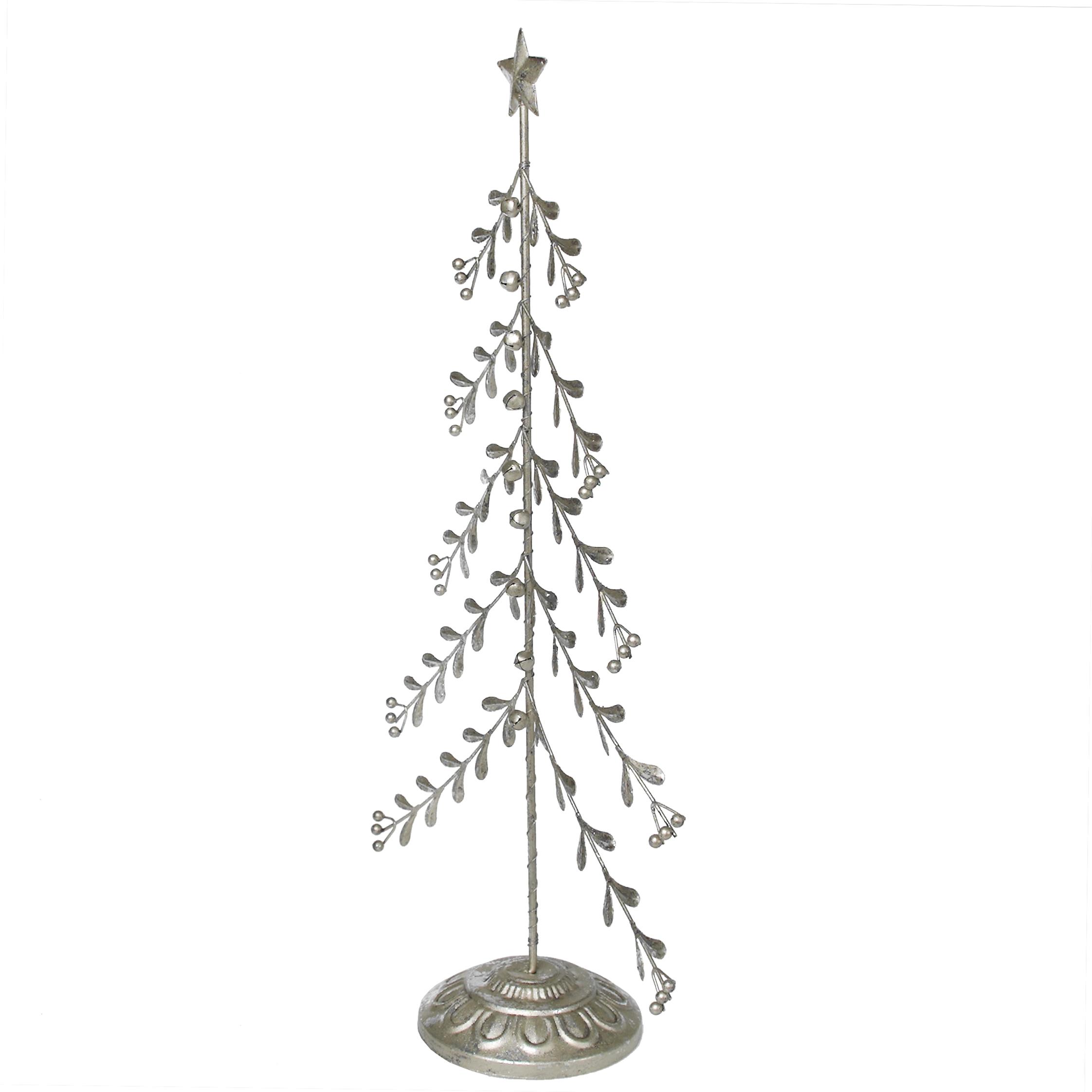 Silver Mistletoe Christmas Tree With Bells