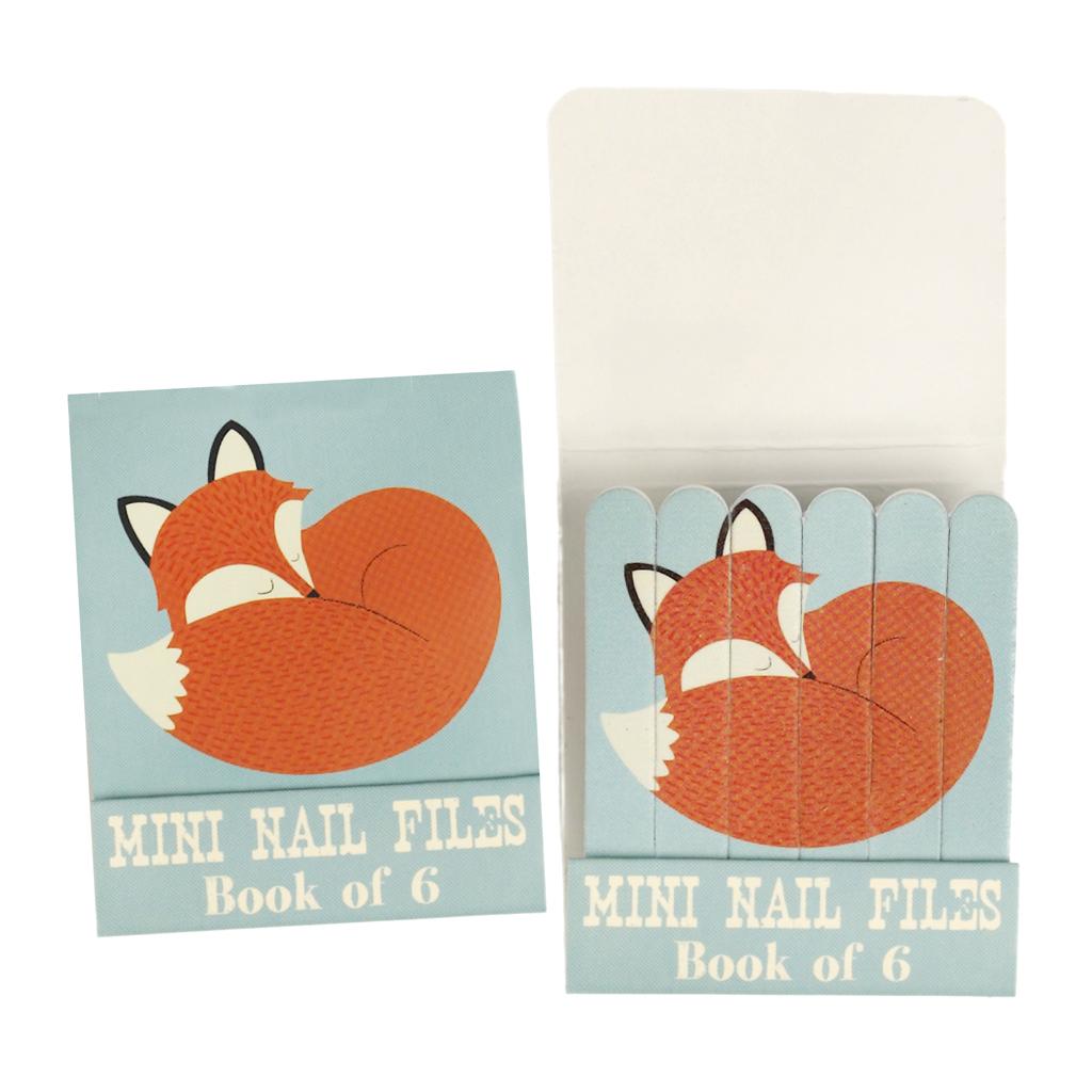 Book Of 6 Rusty The Fox Nail Files   Rex London (dotcomgiftshop)