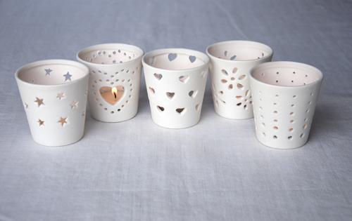 Hearts Ceramic Tealight Holder Rex London At Dotcomgiftshop