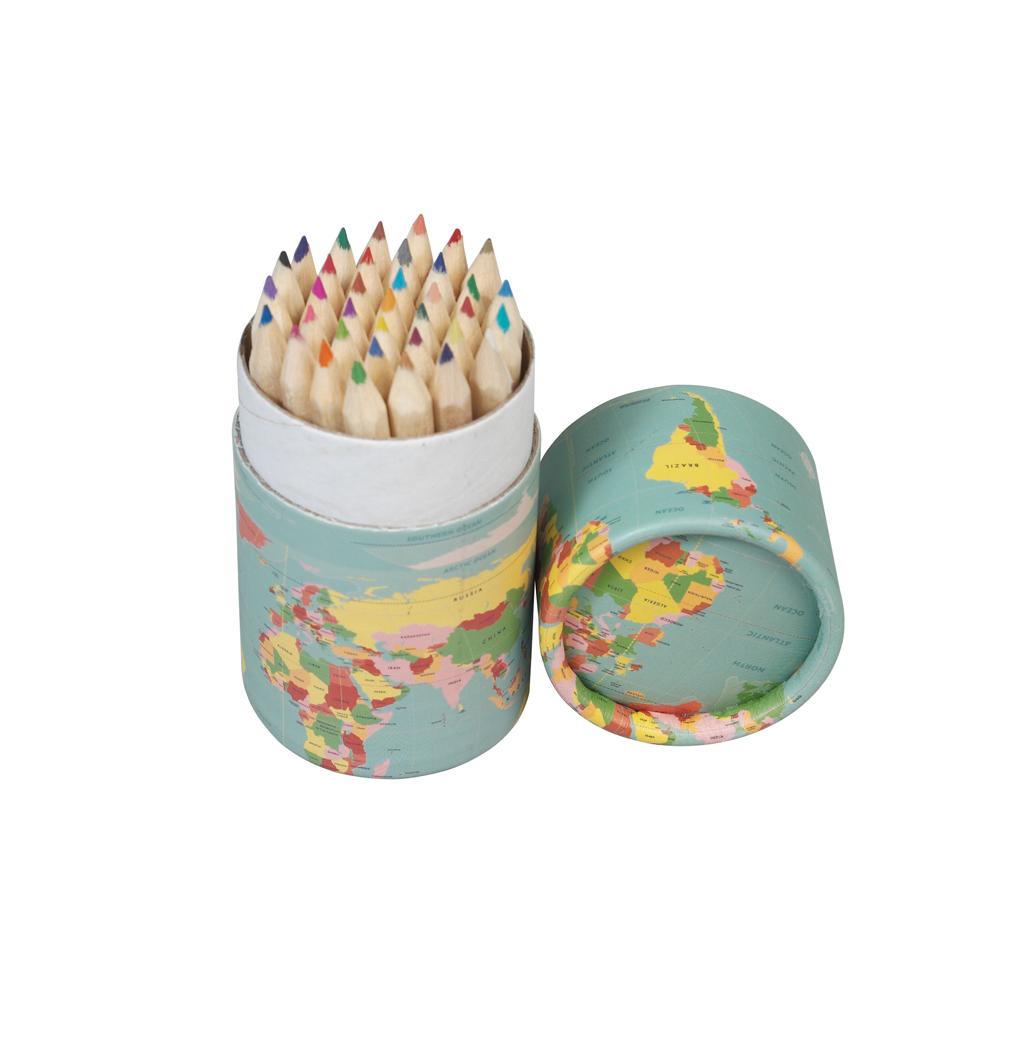 Set of 36 world map colouring pencils rex london dotcomgiftshop gumiabroncs Images