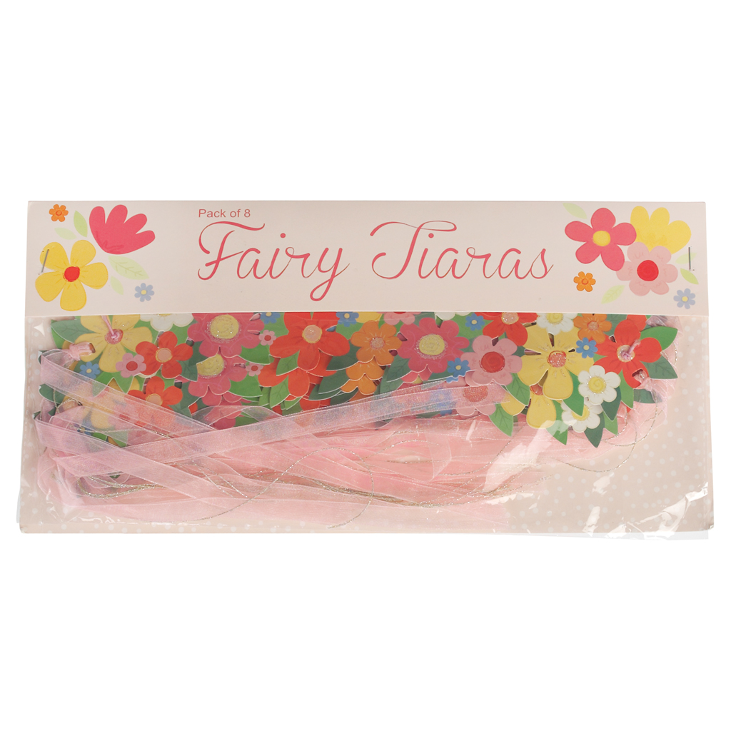 Pack of 8 fairy tiaras rex london dotcomgiftshop pack of 8 fairy flower crown tiaras izmirmasajfo