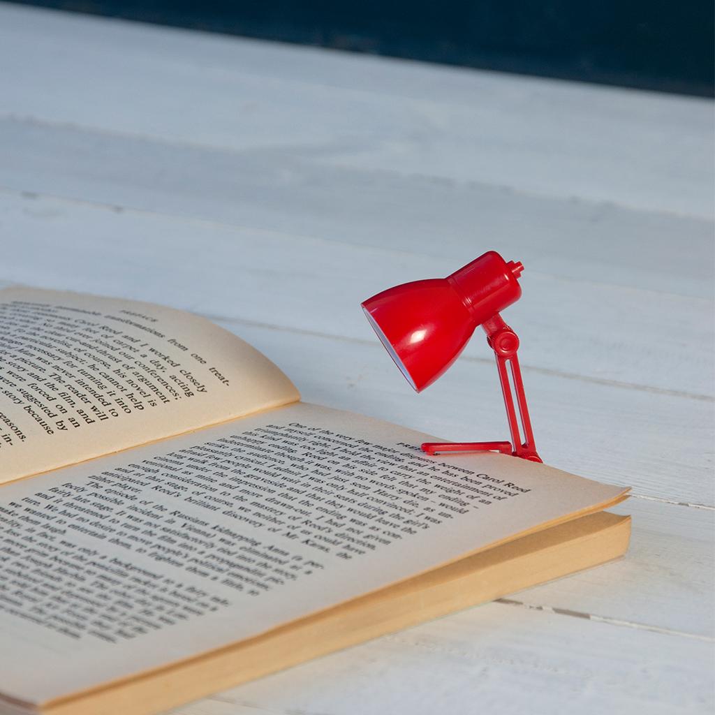 Mini Reading Book Lamp Red | dotcomgiftshop