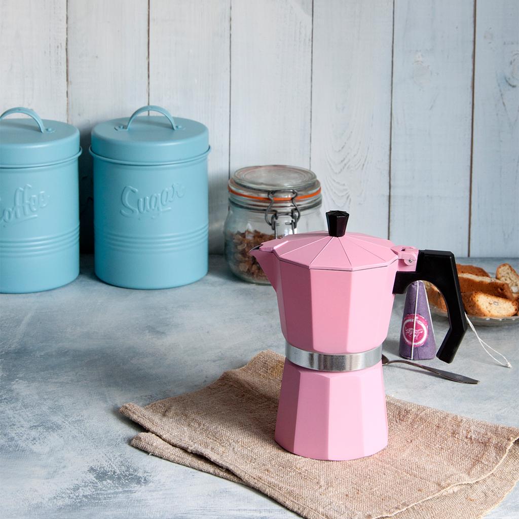 Classic Espresso Coffee Pot Pink Rex London at dotcomgiftshop