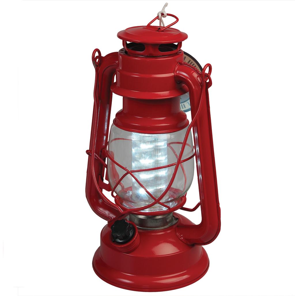 Red L E D Battery Ed Hurricane Lamp