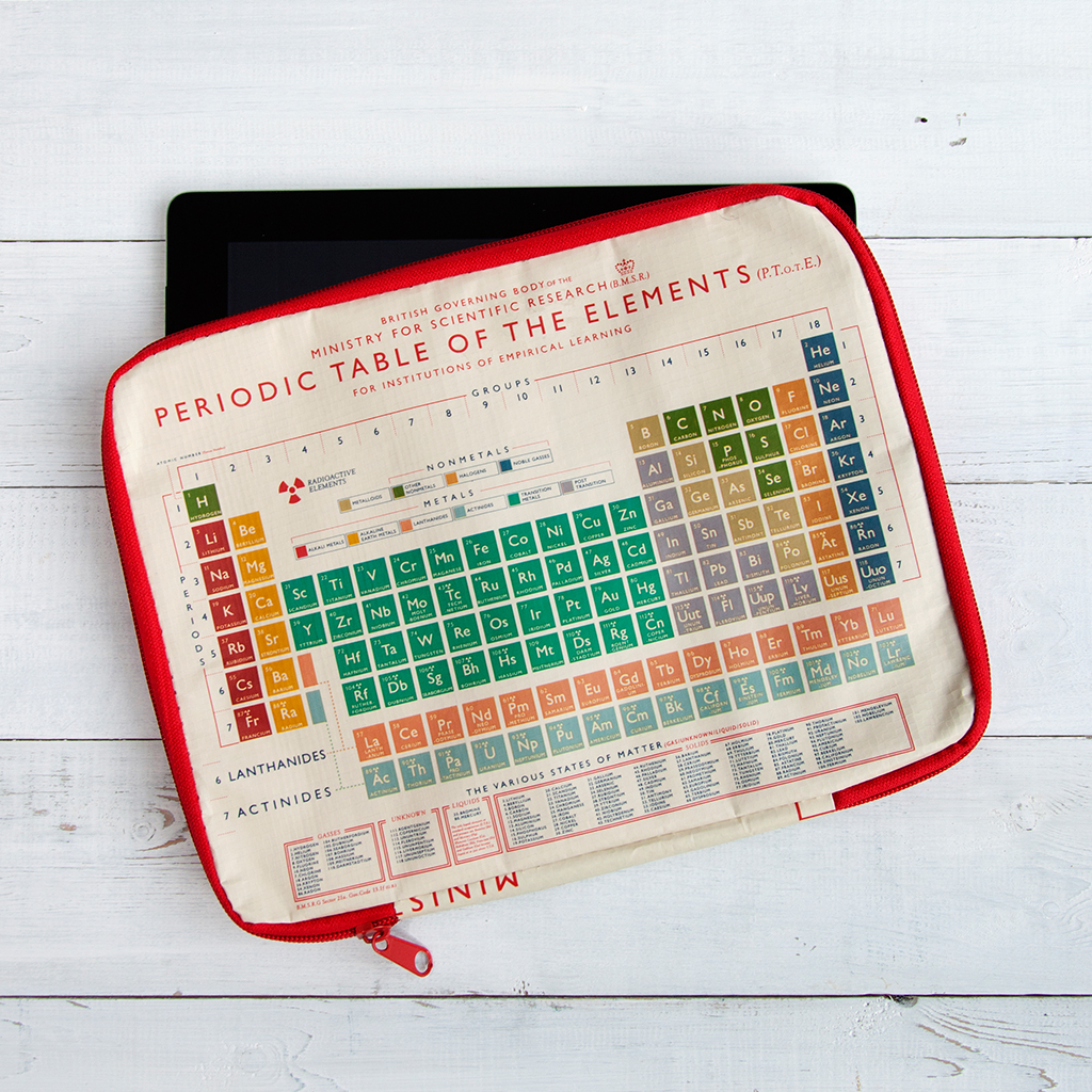Periodic table tablet case rex london dotcomgiftshop periodic table tablet case urtaz Gallery