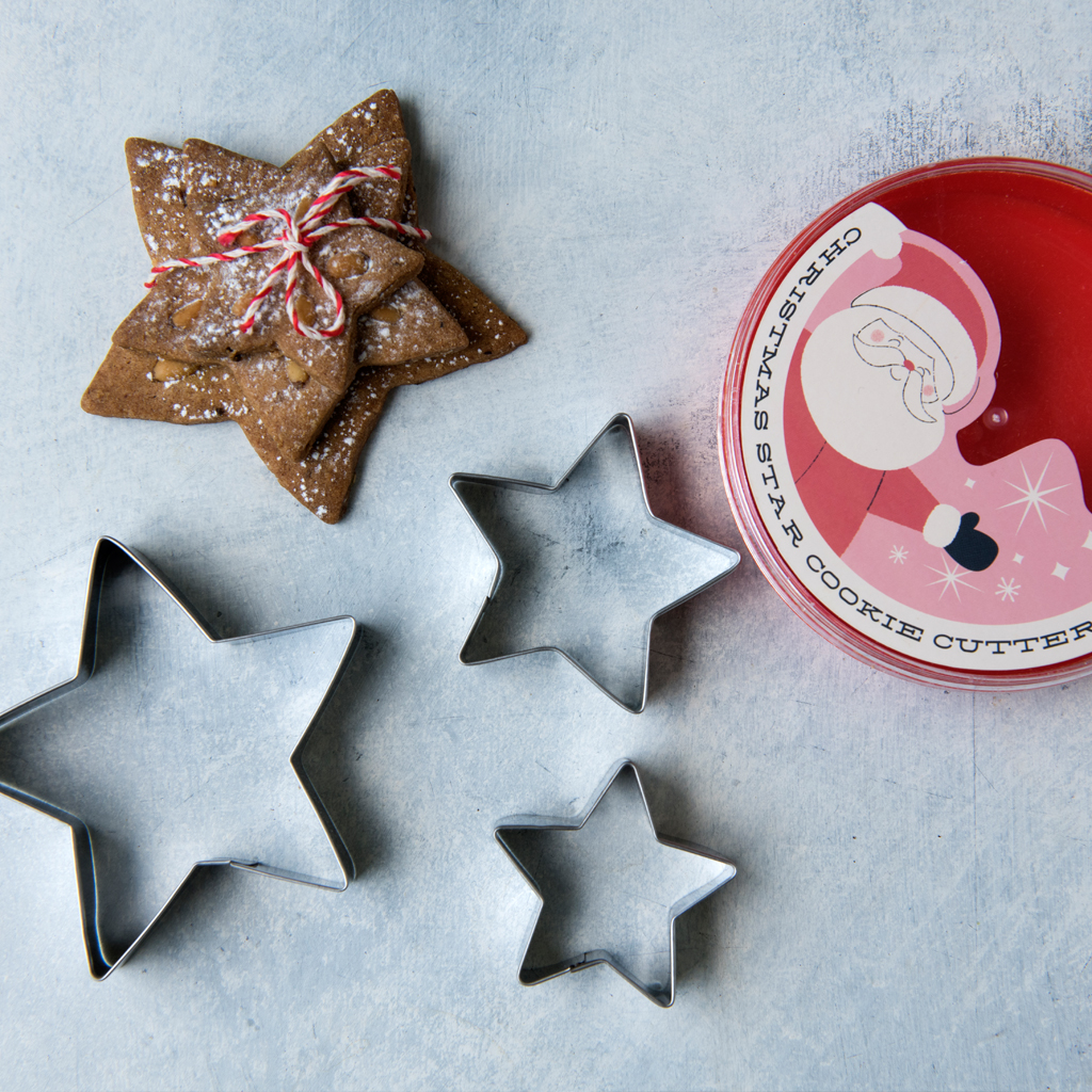 Set Of 3 Christmas Star Cookie Cutters | dotcomgiftshop