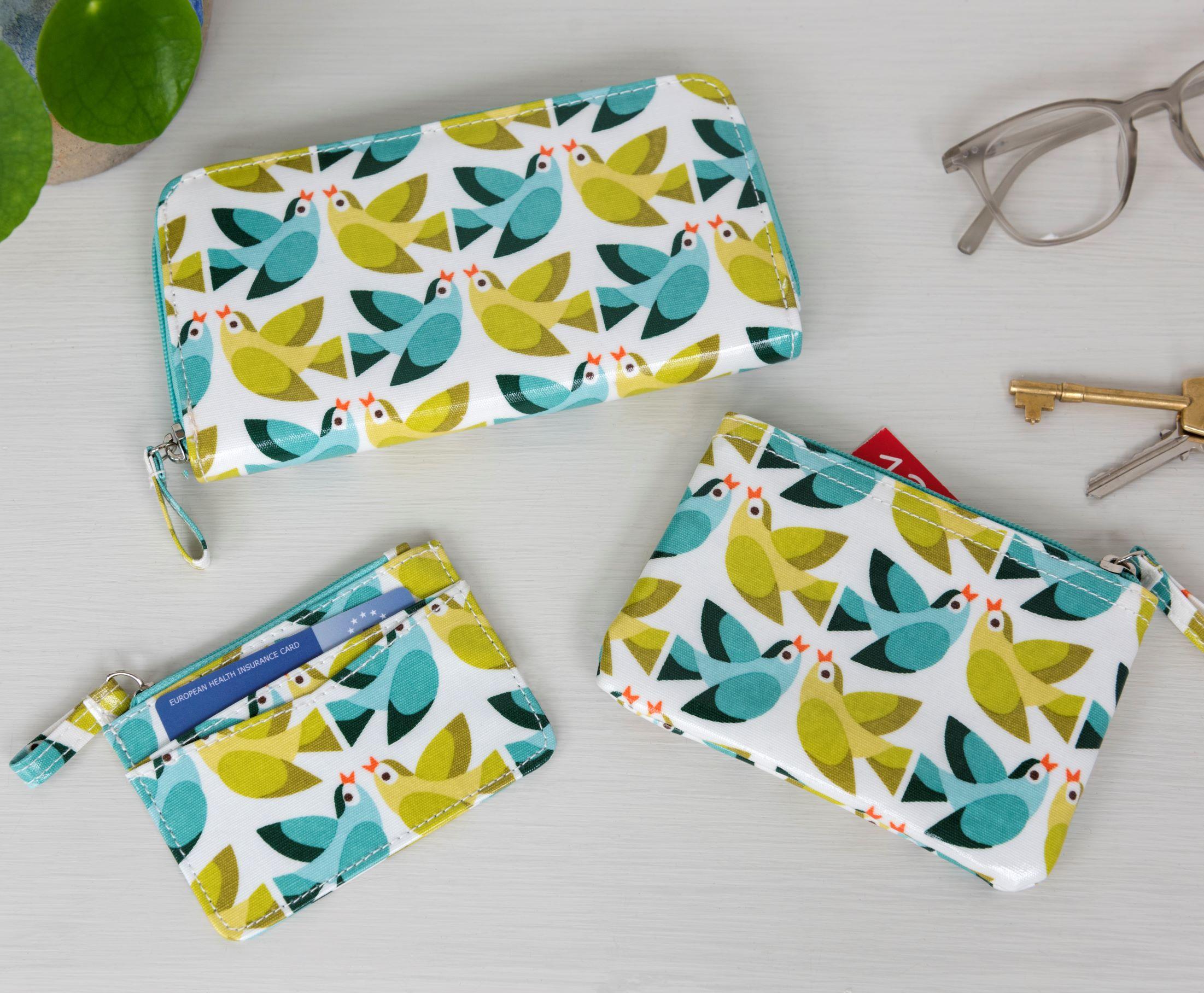 Love Birds wallet, cardholder purse, purse