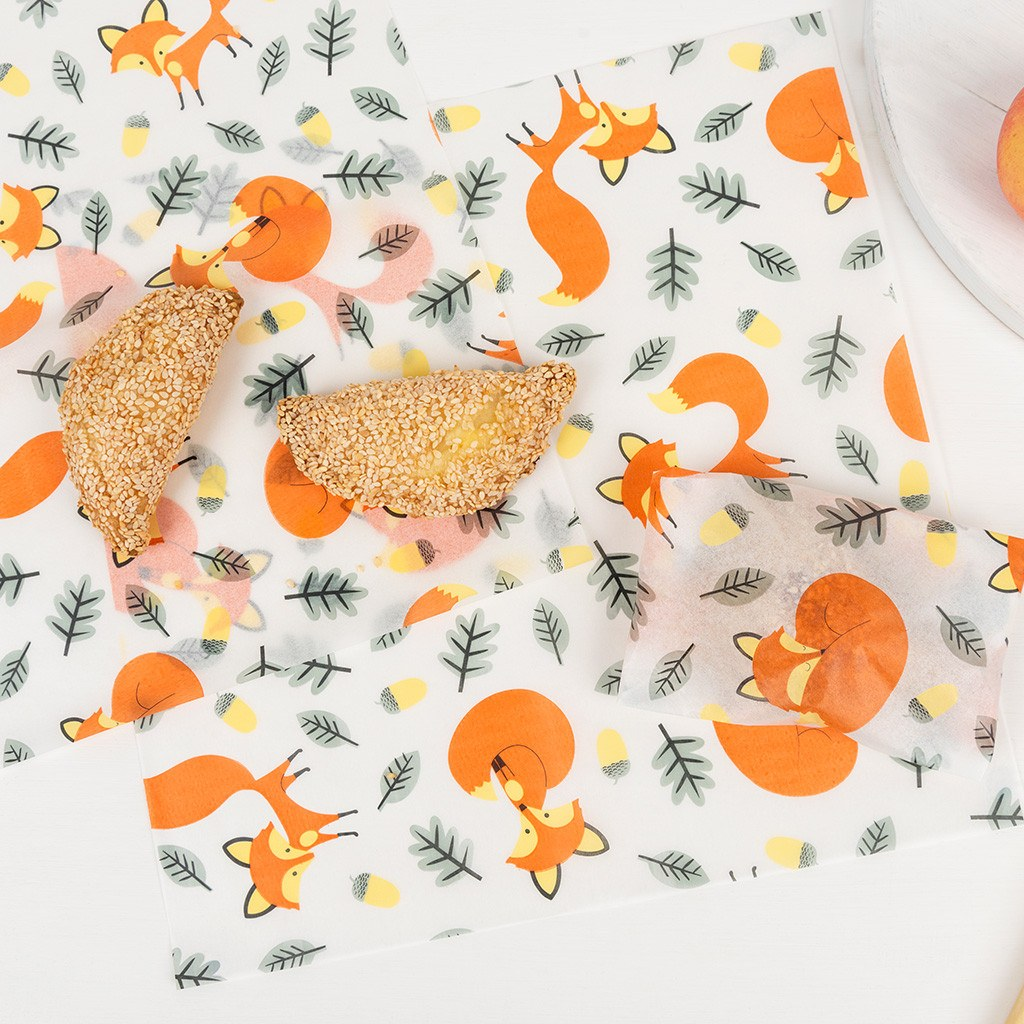 Rusty the fox greaseproof paper