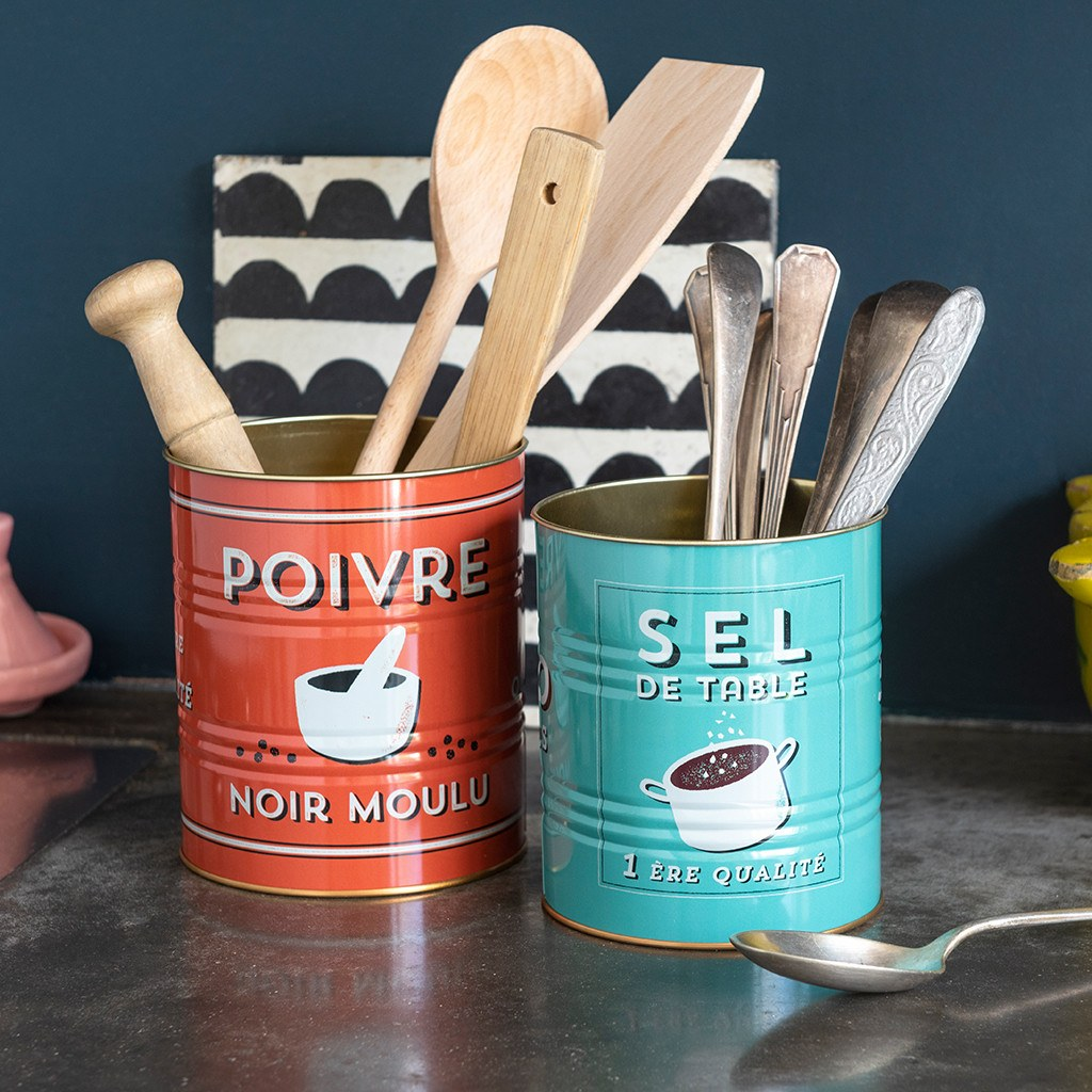 salt and pepper storage tins