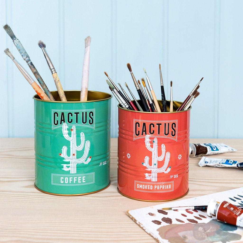 Cactus storage tins