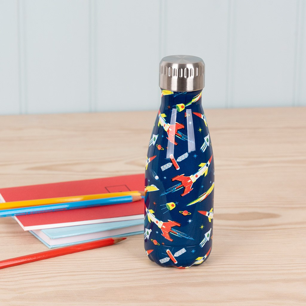 Space Age stainless steel water bottle