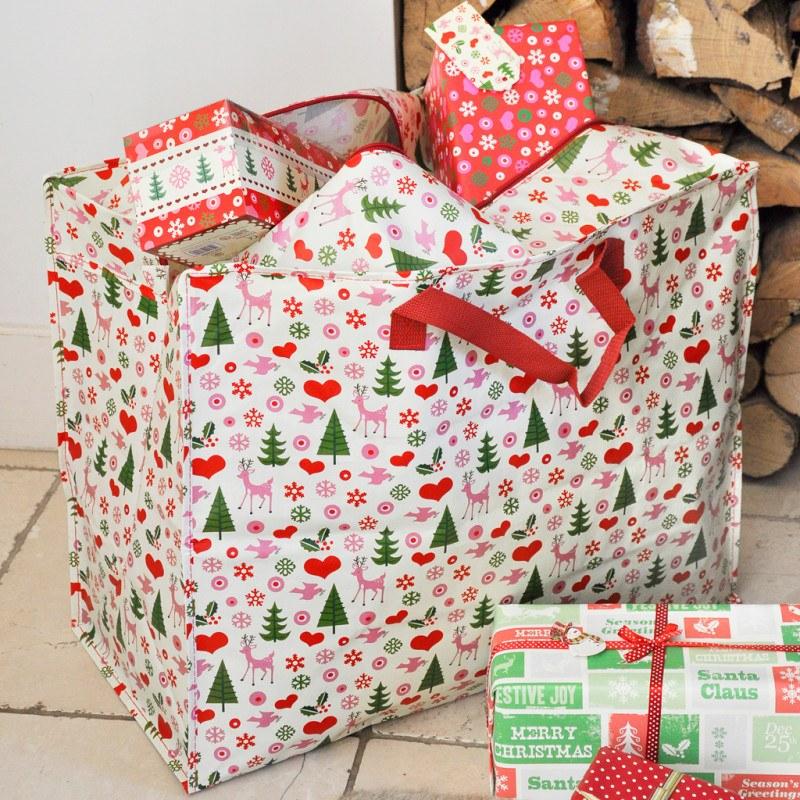 50 design Christmas jumbo storage bag