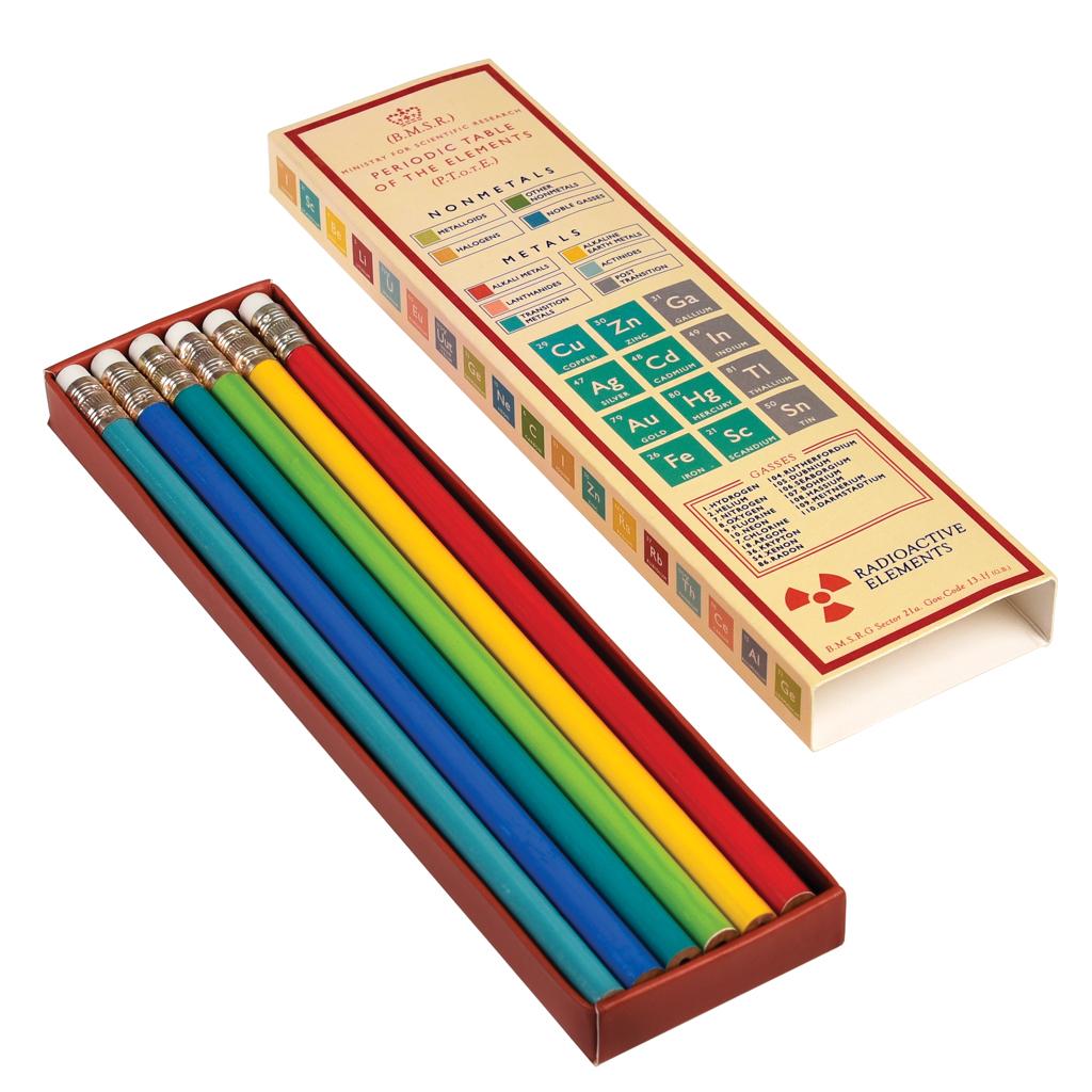 sc 1 st  Dotcomgiftshop & 6 Pencils In Periodic Table Box | Rex London (dotcomgiftshop)