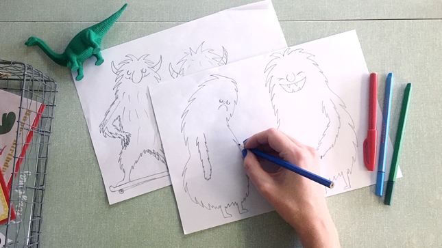 monsters drawing