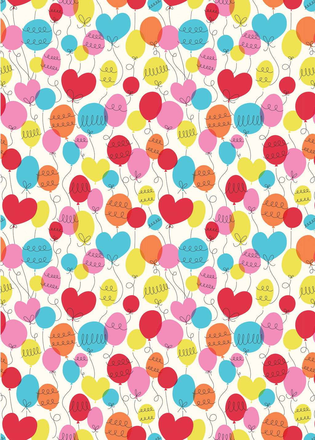 party balloon wrapping paper (5 sheets) | rex london (dotcomgiftshop)