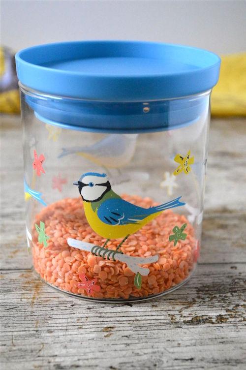 blue tit storage jar