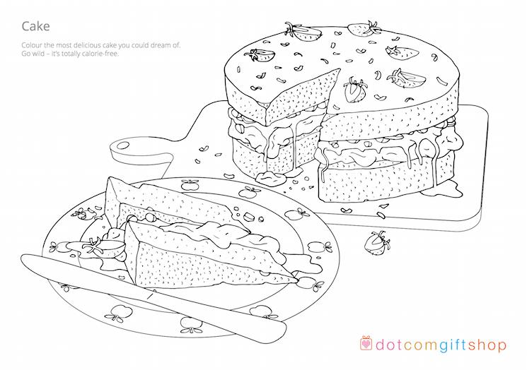 Free baking colouring sheets | Rex London blog