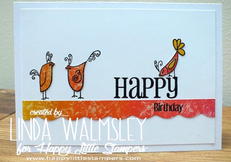 Chicken happy birthday card design