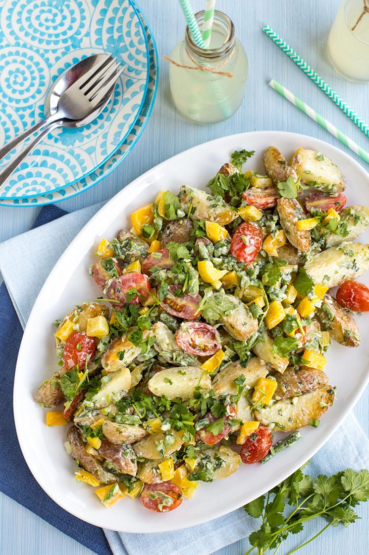 Creamy green bean potato salad