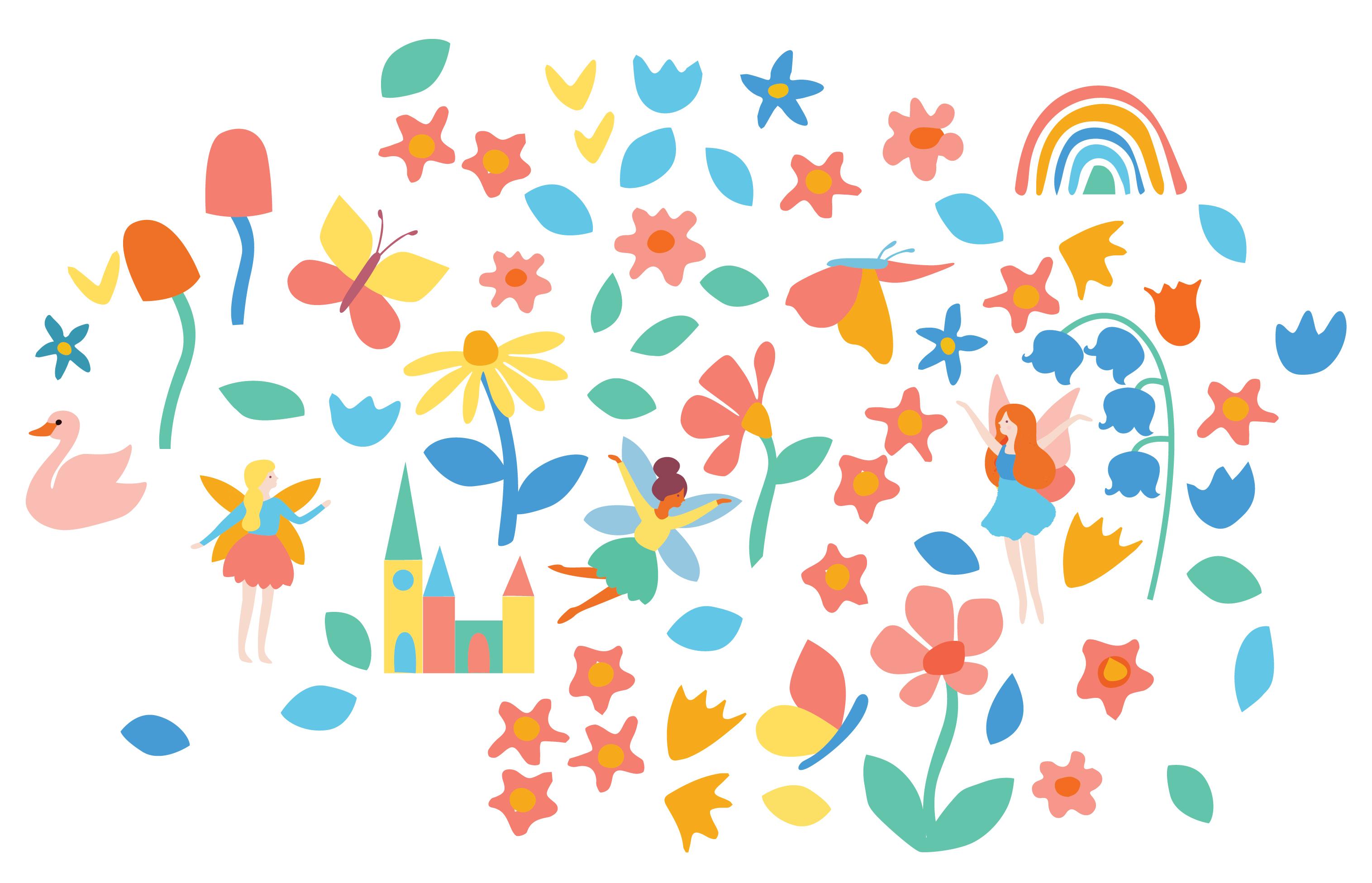 Fairies in the Garden digital sketch
