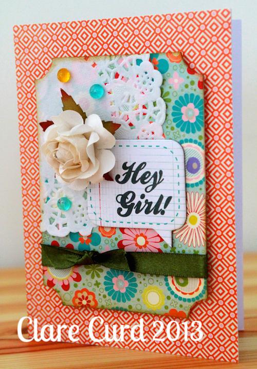 Hey Girl Birthday Card