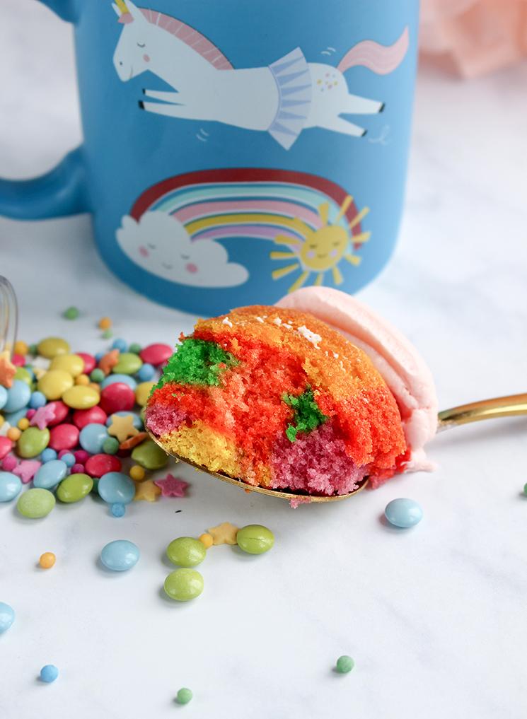 Inside the unicorn cake