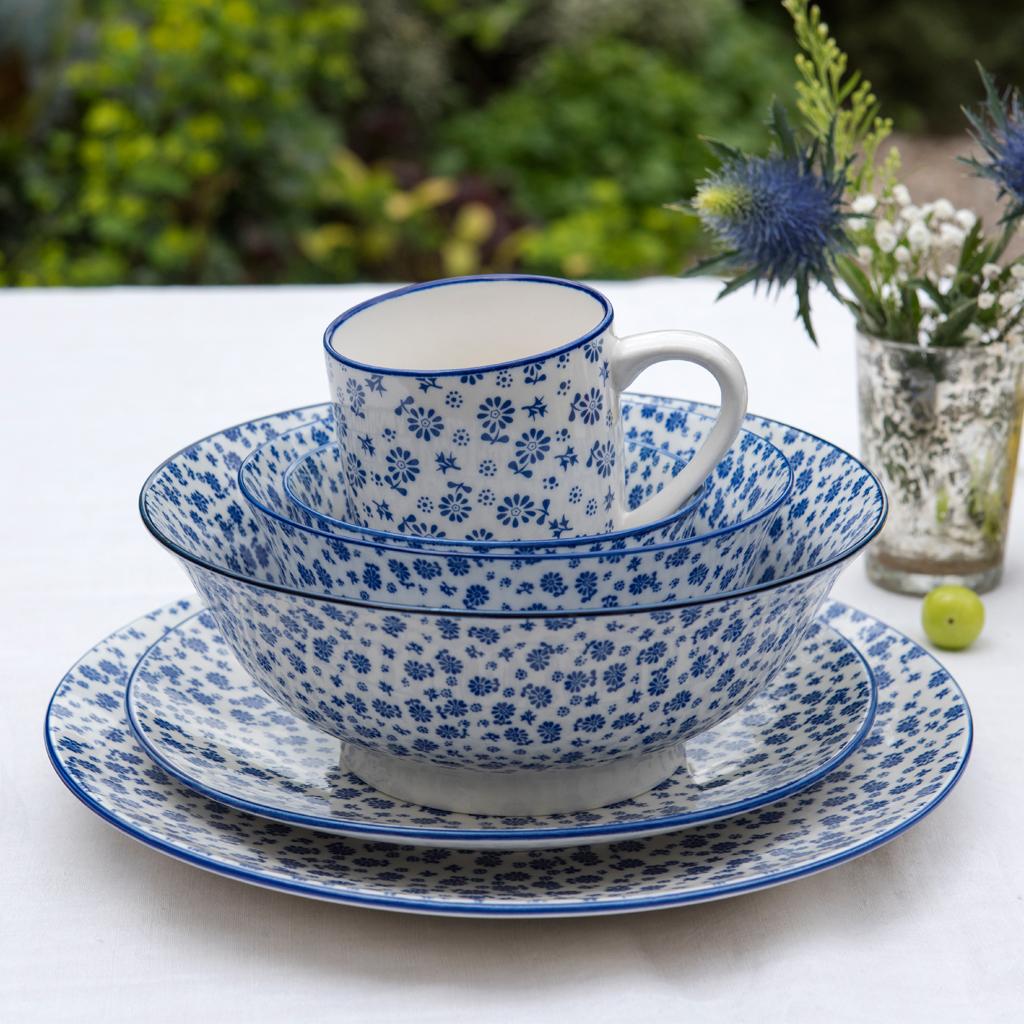 & Japanese Salad Bowl Blue Daisy | Rex London (dotcomgiftshop)
