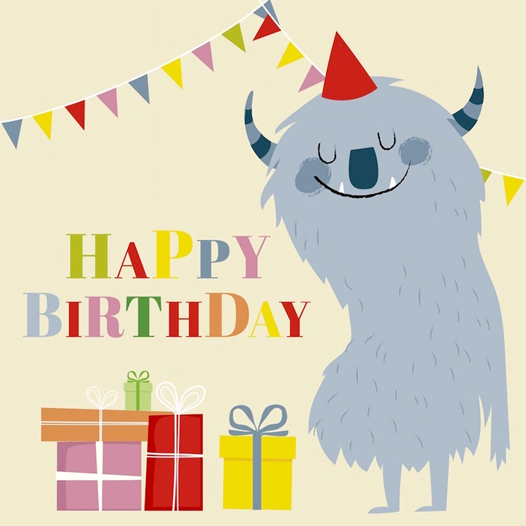 44 brilliant birthday card designs rex london blog monster birthday card bookmarktalkfo Image collections