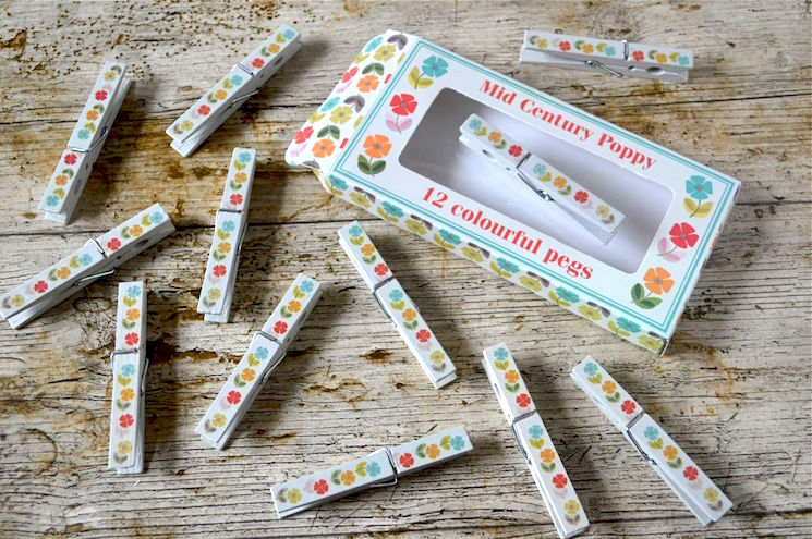 poppy clothes pegs