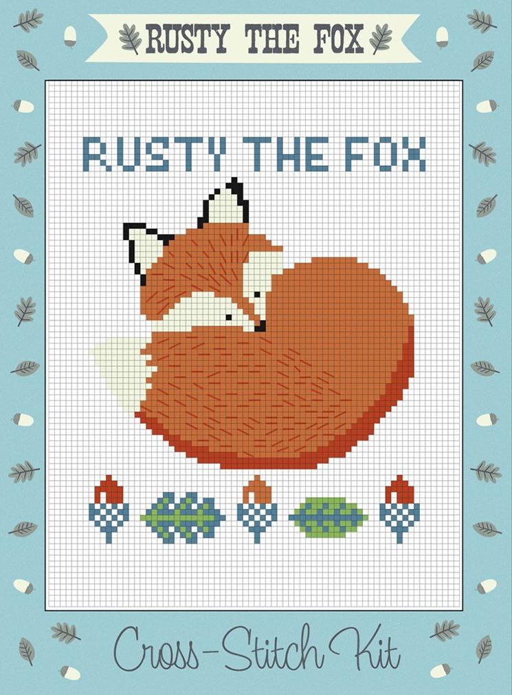 Rusty the Fox cross stitch