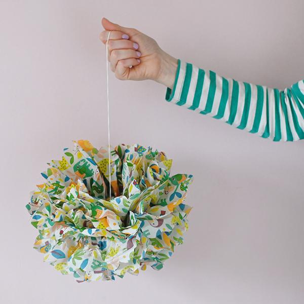 Tissue paper pom-pom